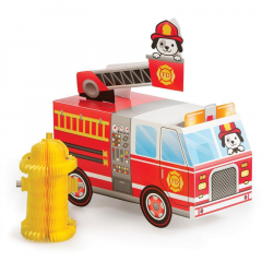 Διακοσμητικό τραπεζιού Flaming Fire Truck