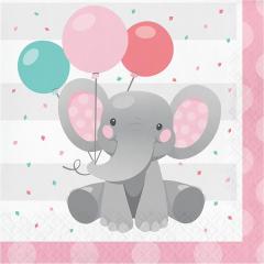Xαρτοπετσέτες Mεγάλες Enchanting Elephant Girl 16τεμ