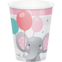 Ποτήρια Enchanting Elephant Girl 266ml 8τεμ