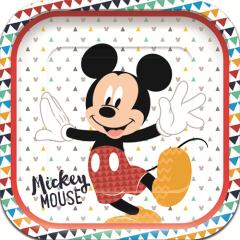 Τετράγωνα πιάτα φαγητού Mickey Awesome Mouse 4τεμ.