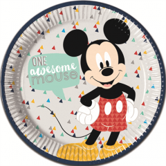 Πιάτα φαγητού Mickey Awesome Mouse 8τεμ.