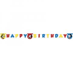 Γιρλάντα γράμματα Happy Birthday Mickey Super Cool