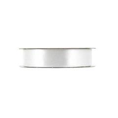Κορδέλα σατέν με ούγια μίας όψης λευκό 25mm 50m