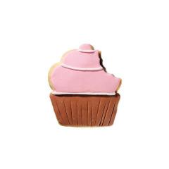Μπισκότο με σχέδιο cupcake ριγέ