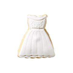 Μπισκότο γάμου νυφικό φόρεμα