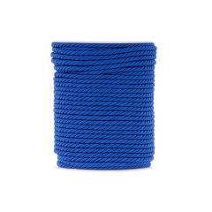 Κορδόνι τρίκλωνο μπλε ρουά 4mm x 50m