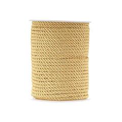 Κορδόνι τρίκλωνο στριφτό χρυσό 4mm x 50m