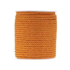 Κορδόνι τρίκλωνο στριφτό πορτοκαλί 4mm x 50m