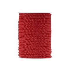 Κορδόνι τρίκλωνο στριφτό κόκκινο 4mm x 50m