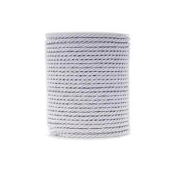 Κορδόνι τρίκλωνο στριφτό λευκό 4mm x 50m