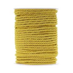Κορδόνι τρίκλωνο στριφτό κίτρινο 4mm x 50m