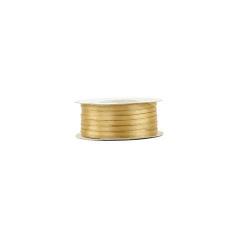 Κορδέλα σατέν διπλής όψης χρυσό 3mm 100m