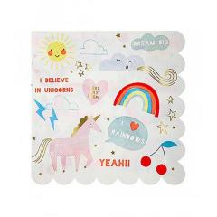 Χαρτοπετσέτα με θέμα Rainbows & Unicorns Meri Meri