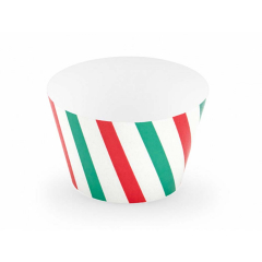 Θήκη cupcake ριγέ Merry Xmas 6τεμ
