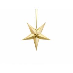 Χάρτινο χρυσό αστέρι 30εκ