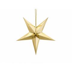 Χάρτινο χρυσό αστέρι 45εκ