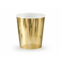 Χάρτινο ποτήρι χρυσό μεταλλιζέ 180ml