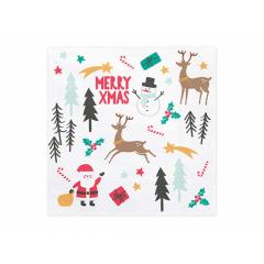 Χαρτοπετσέτες Merry Xmas 20τεμ