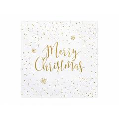 Χαρτοπετσέτες χρυσαφί Merry Christmas 20τεμ