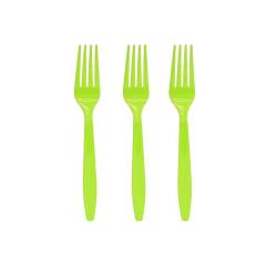 Πιρουνάκια πλαστικά λαχανί 16τεμ