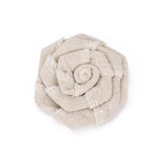Λουλούδι καμβάς φυσικό 7εκ 2τεμ