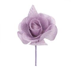 Λουλούδι καμβάς κολαρισμένο λιλά 7εκ