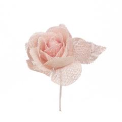 Λουλούδι καμβάς κολαρισμένο σομόν 7εκ