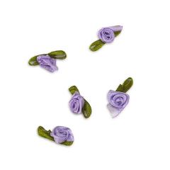 Λουλούδι σατέν λιλά 20mm 50τεμ