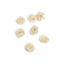 Λουλουδάκι σατέν εκρού 13mm 50τμχ