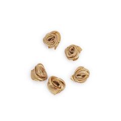Λουλουδάκι σατέν μπεζ 13mm 50τμχ