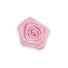 Υφασμάτινο λουλούδι σατέν ροζ 4εκ 5τεμ