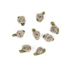 Λουλούδι σατέν μόκα 20mm 50τεμ