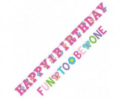 Γιρλάντα γράμματα Sweet 1st Birthday Girl 2τεμ.