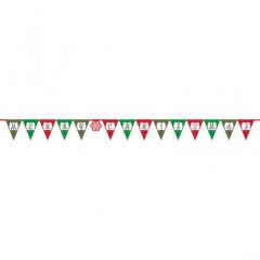 Χριστουγεννιάτικη γιρλάντα σημαιάκια Merry Christmas 3,81m