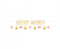 Γιρλάντα γράμματα Hello World Baby Girl 2τεμ.