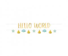 Γιρλάντα γράμματα Hello World Baby Boy 2τεμ.