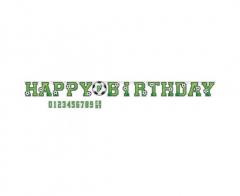 Γιρλάντα γράμματα Jumbo Happy Birthday Ποδόσφαιρο 320x25εκ.