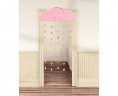 Κουρτίνα πόρτας συννεφάκι Baby Girl 98x192.7εκ.