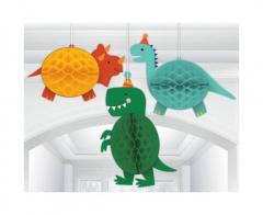 Κρεμαστά χάρτινα διακοσμητικά Δεινόσαυρος 3τεμ.