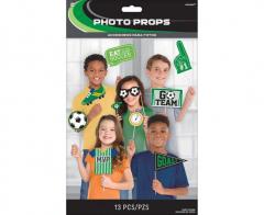 Στικάκια Photobooth με θέμα ποδόσφαιρο 13τεμ.