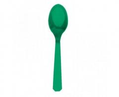 Πλαστικά κουτάλια πράσινα 10τεμ