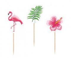 Διακοσμητικές οδοντογλυφίδες μικρές Flamingo Paradise 20τεμ.