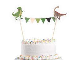 Διακοσμητικό τούρτας με γιρλάντα Happy Dinosaur 15x20εκ.