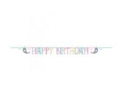 Γιρλάντα γράμματα Happy Birthday Narwhal 2,40μ.