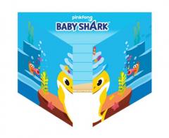 Προσκλήσεις με φακέλους Baby Shark 8τεμ.