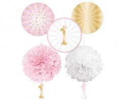 Σετ διακόσμησης 1st Birthday Pink Ombre 5τεμ.