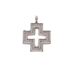 Σταυρός μεταλλικό ασημί 2x1εκ 10τεμ