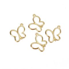 Μεταλλική πεταλούδα μικρή χρυσή 19x17mm 10τεμ