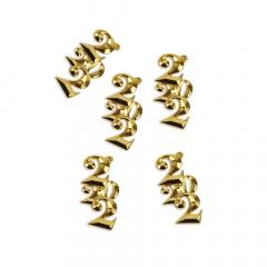 Μεταλλικό ανάγλυφο 2022 χρυσαφί 24x42εκ 5τεμ