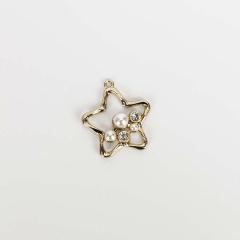 Μεταλλικό διακοσμητικό αστέρι με μαργαριτάρια